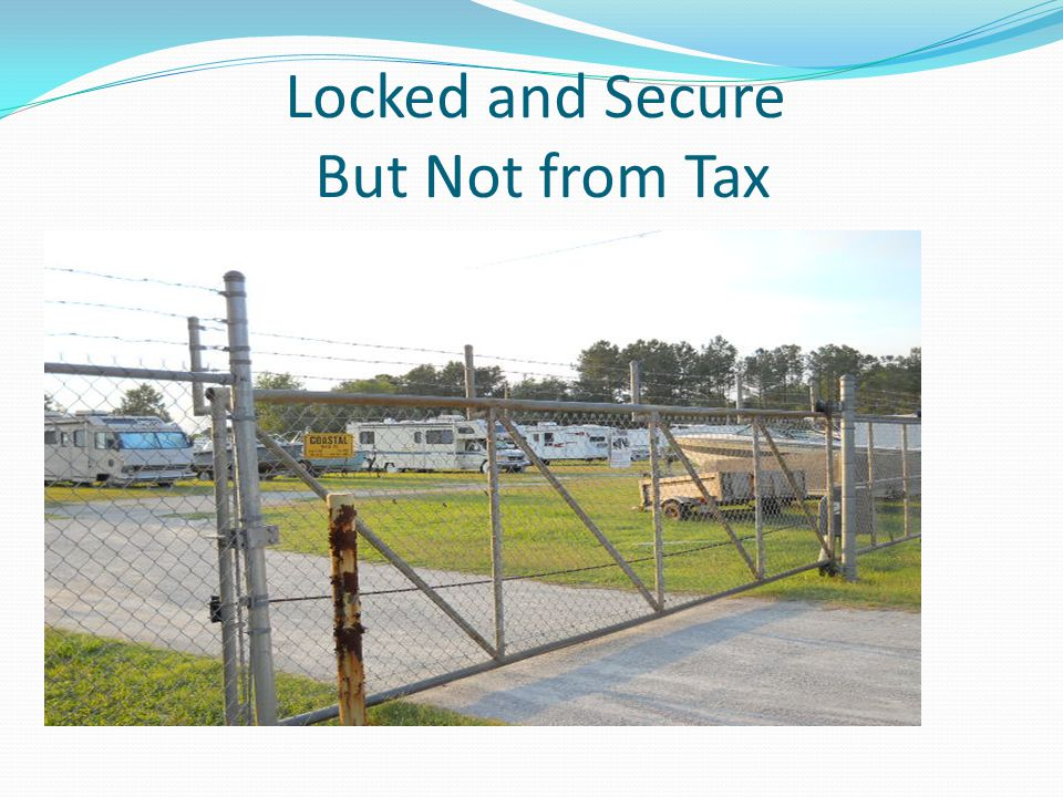 Locked and Secure But Not from Tax