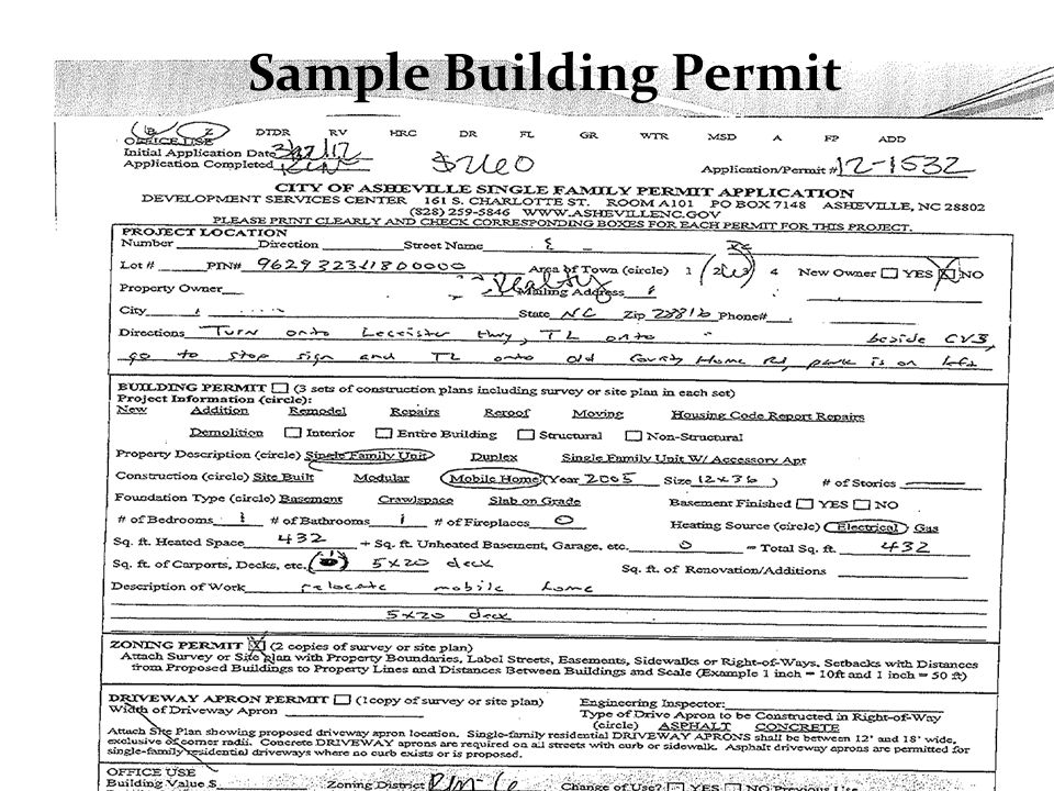Sample Building Permit