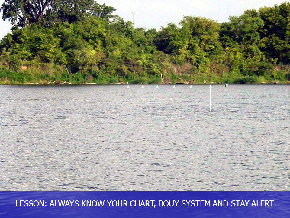 LESSON: ALWAYS KNOW YOUR CHART, BOUY SYSTEM AND STAY ALERT