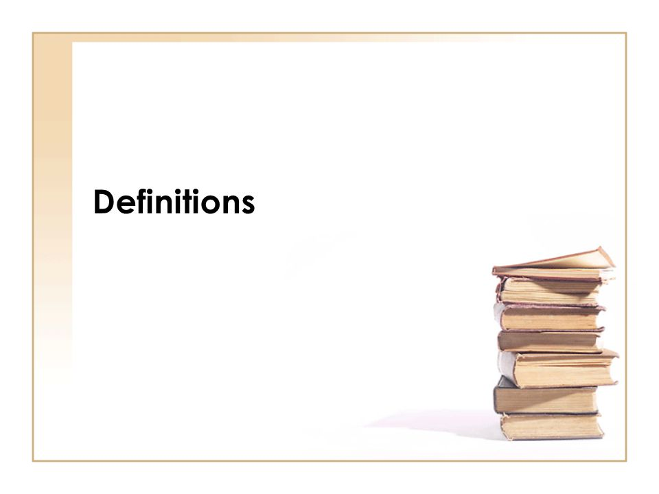 Very important Gives meaning to specific words Alphabetical order Definitions in section 1 of act and regulation 1 of regulations Check before questions are answered