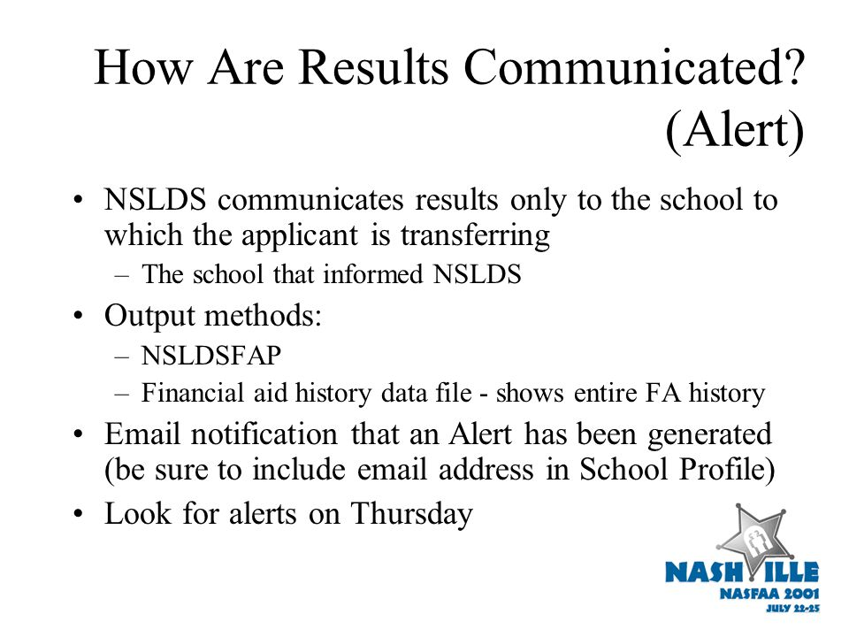 How Are Results Communicated.