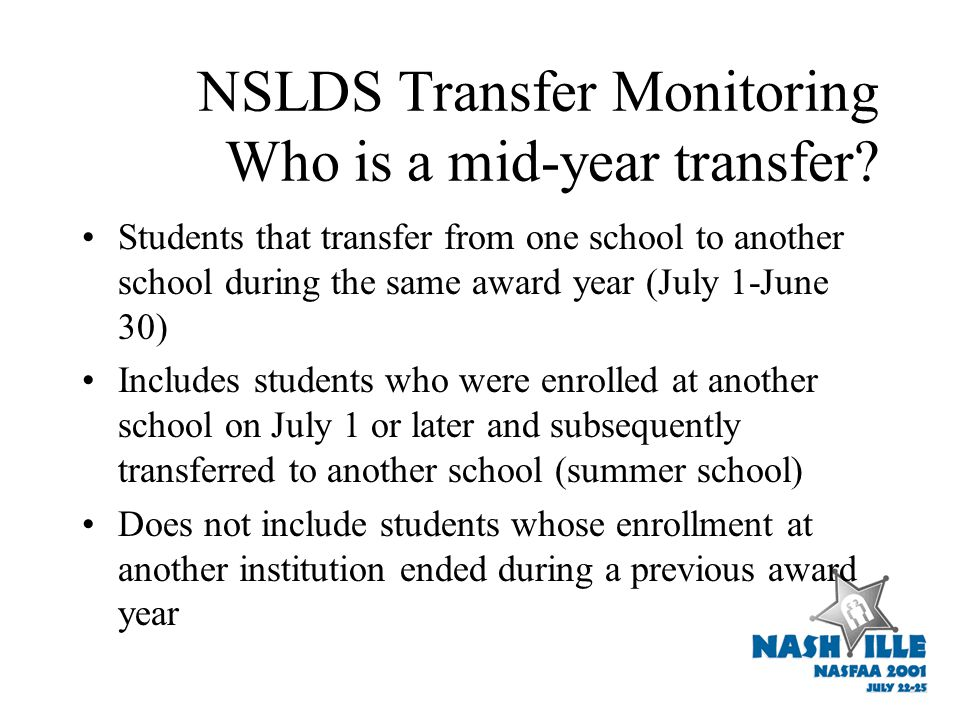 Transfer Monitoring Process Monitor Is there new data affecting applicant's eligibility.