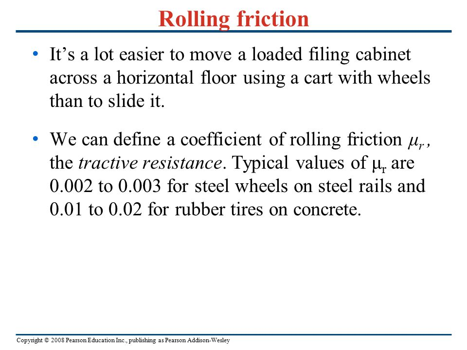 Copyright © 2008 Pearson Education Inc., publishing as Pearson Addison-Wesley Example 5.17 Toboggan ride with friction II The same toboggan with same