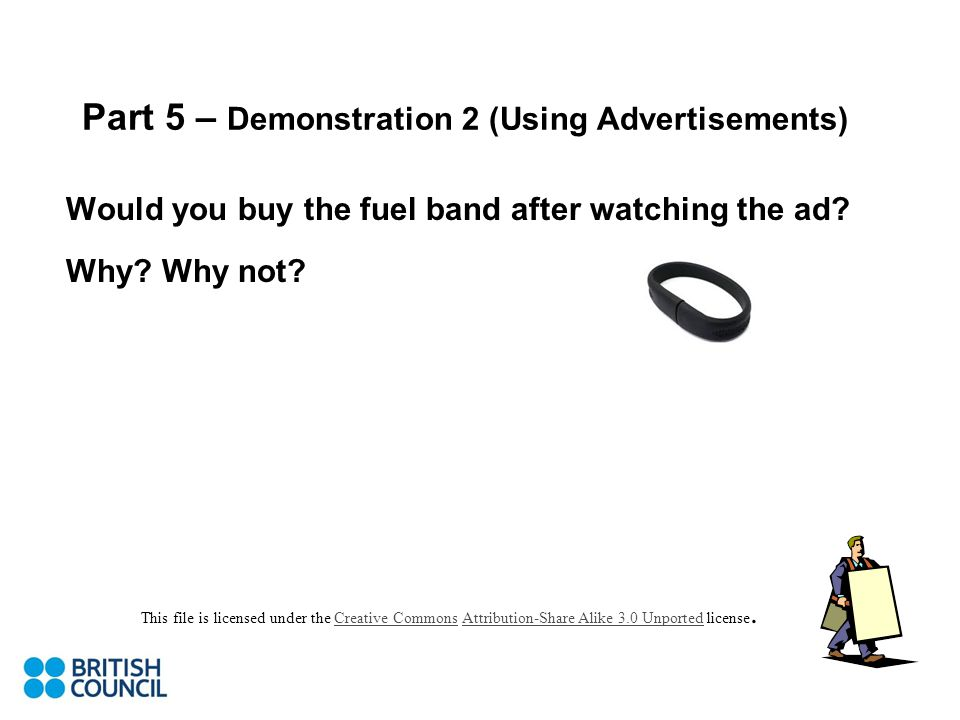 Would you buy the fuel band after watching the ad.