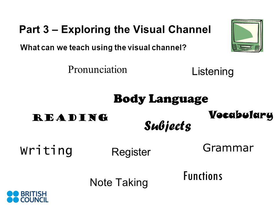 Part 3 – Exploring the Visual Channel What can we teach using the visual channel.