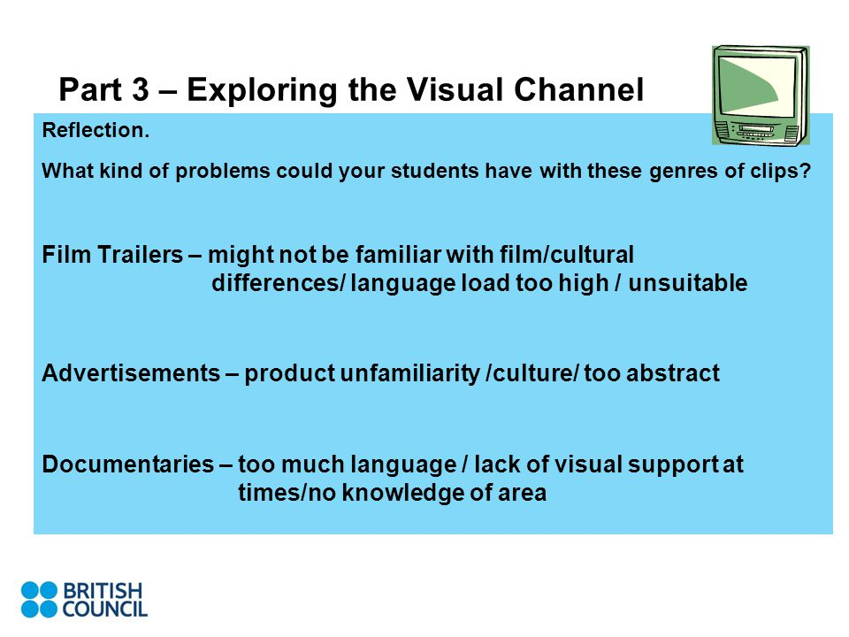 Part 3 – Exploring the Visual Channel Reflection.