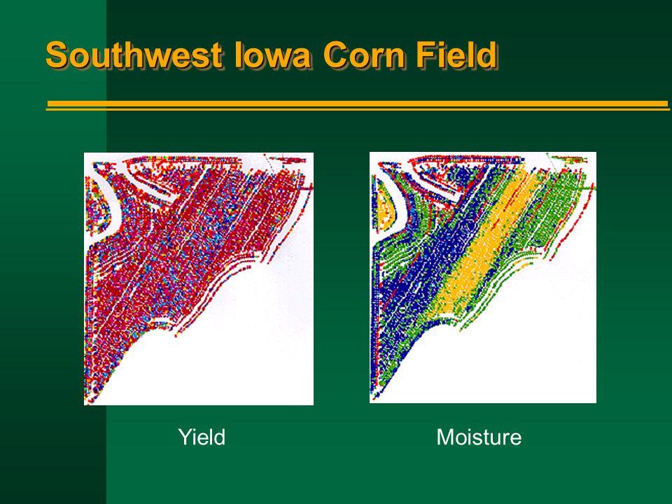 Southwest Iowa Corn Field YieldMoisture