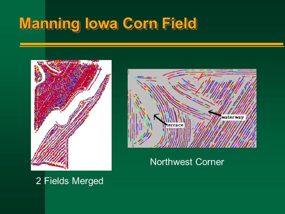 Manning Iowa Corn Field 2 Fields Merged Northwest Corner