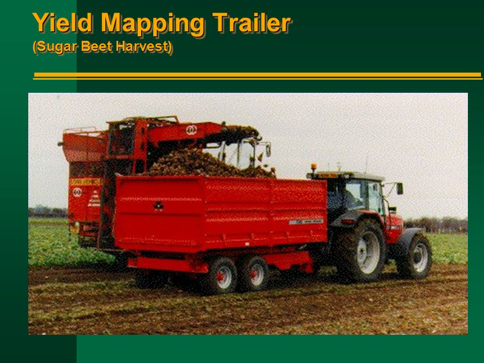 Yield Mapping Trailer (Sugar Beet Harvest)