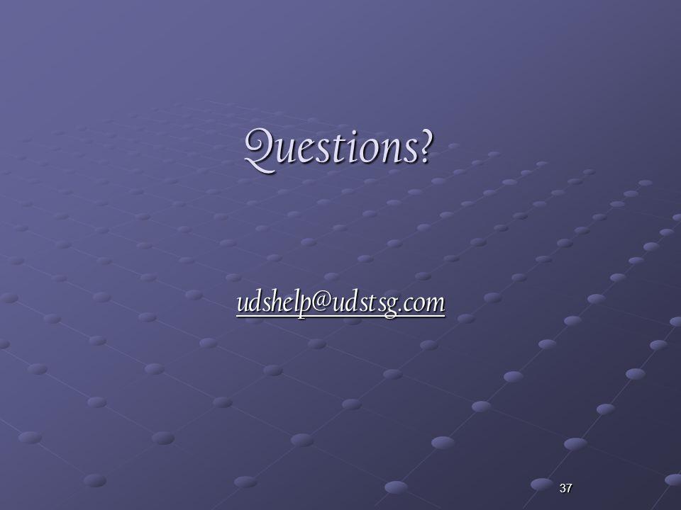 37Questions udshelp@udstsg.com