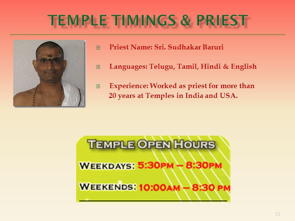 15  Priest Name: Sri.
