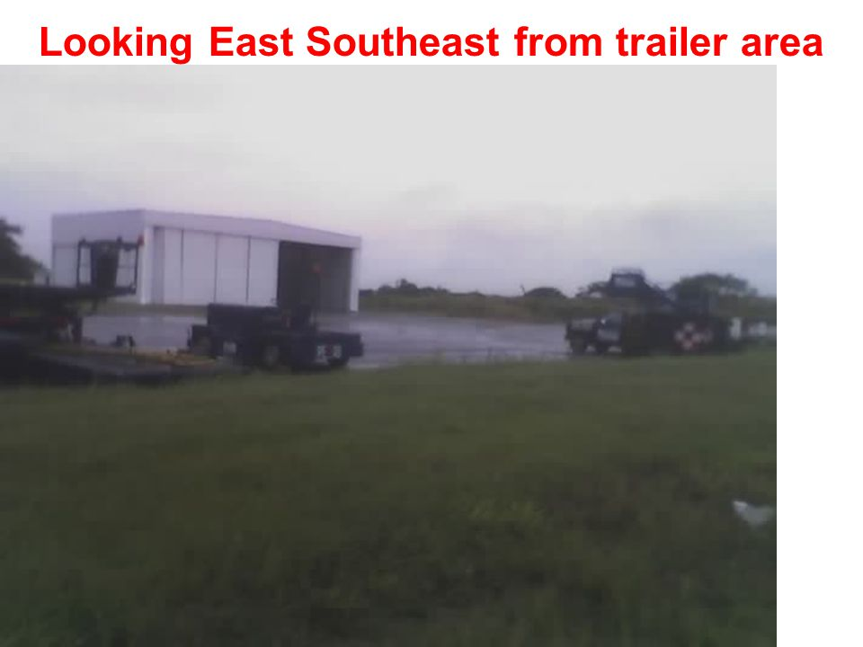Looking East from trailer area