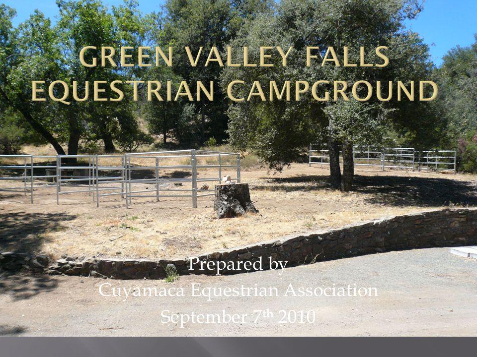 Prepared by Cuyamaca Equestrian Association September 7 th 2010