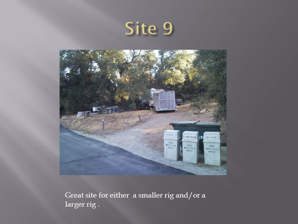 Great site for either a smaller rig and/or a larger rig.
