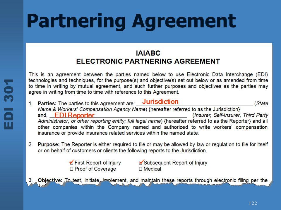 EDI 301 122 Partnering Agreement Jurisdiction EDI Reporter