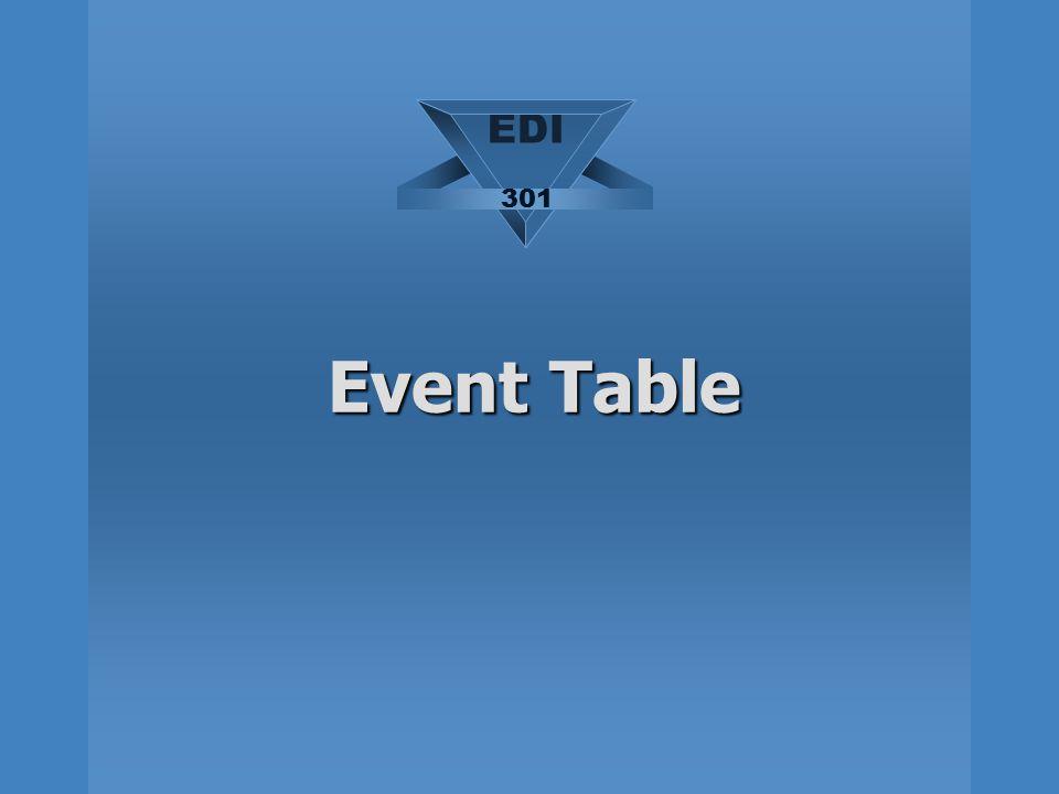 Event Table EDI 301