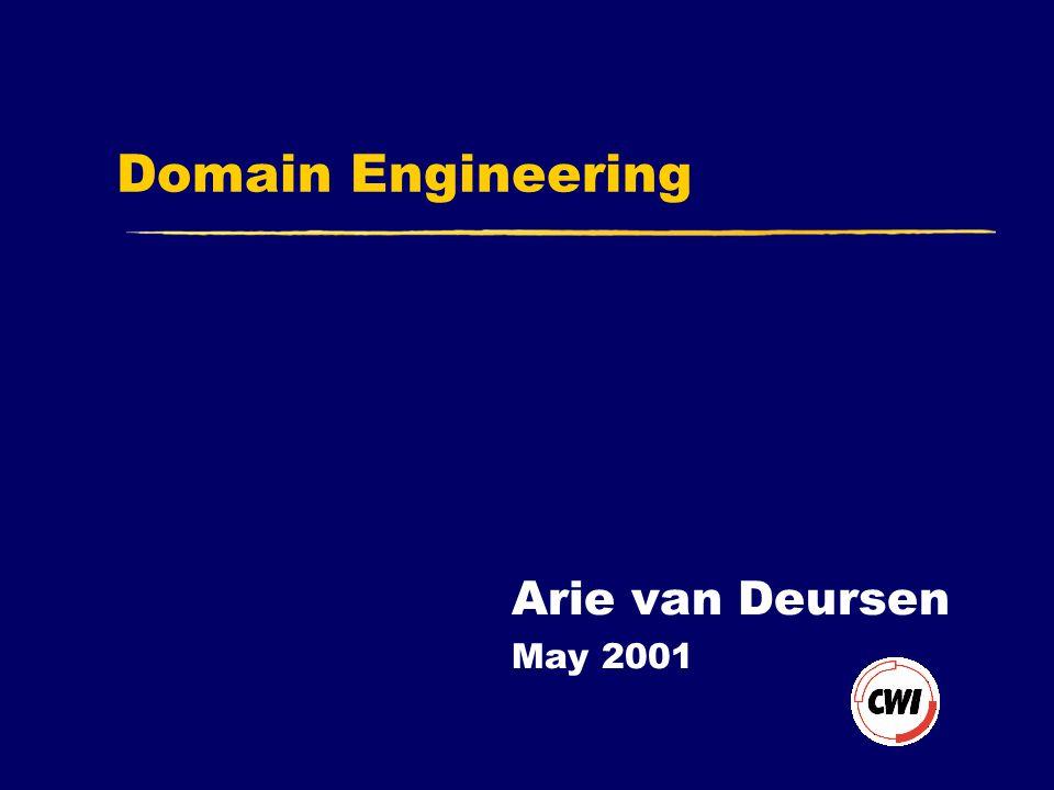 Domain Engineering Arie van Deursen May 2001