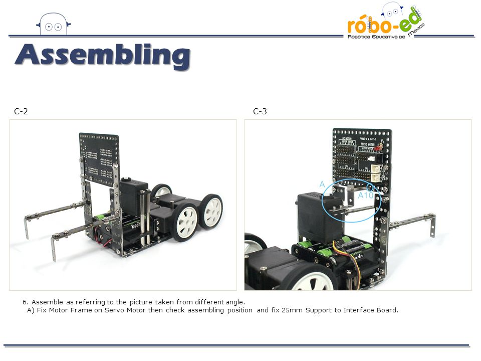 D-1 7.Use Option Frames, Small Frames and 40mm Supports and make trailer connecting device.