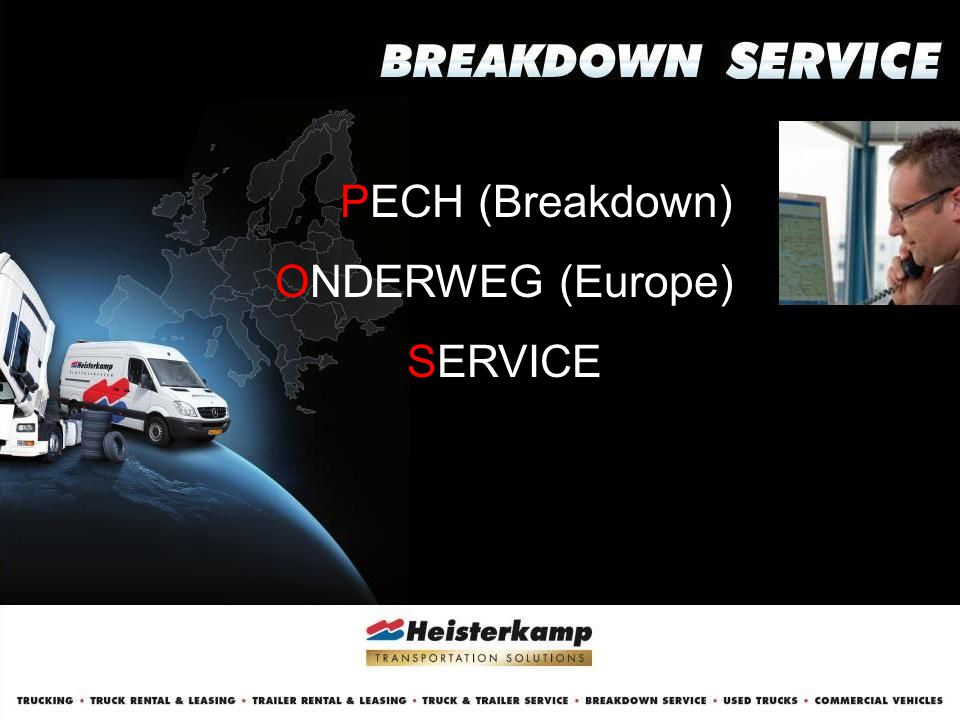 PECH (Breakdown) ONDERWEG (Europe) SERVICE