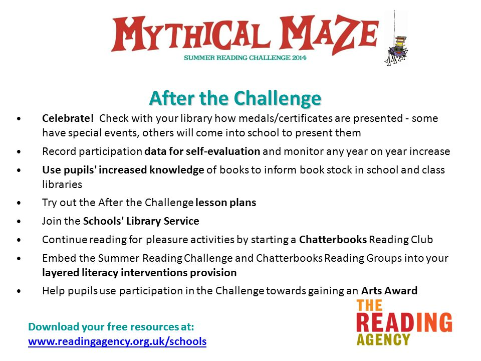 Download your free resources at: www.readingagency.org.uk/schools www.readingagency.org.uk/schools Celebrate.