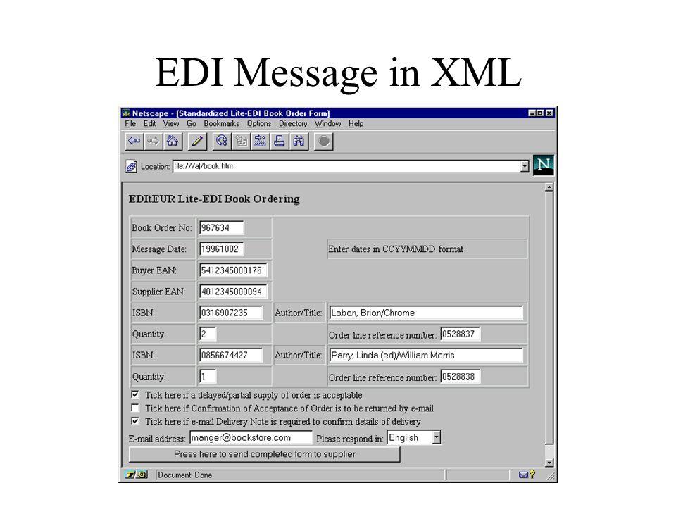 EDI Message in XML