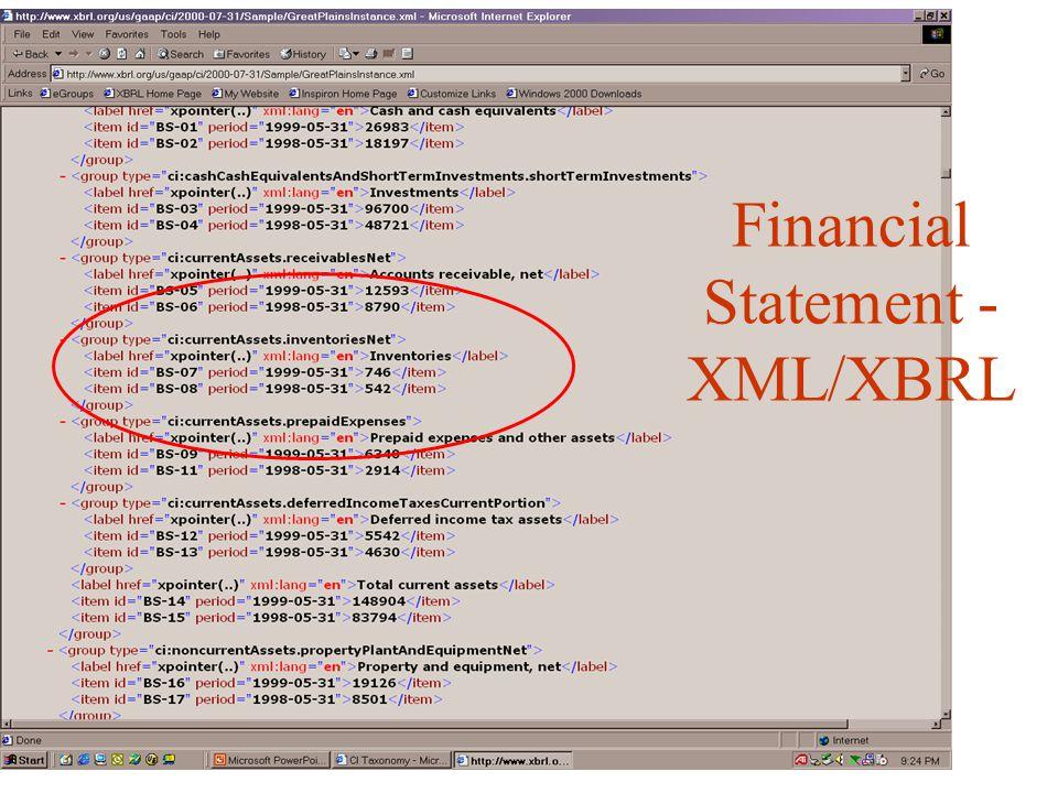 Financial Statement - XML/XBRL