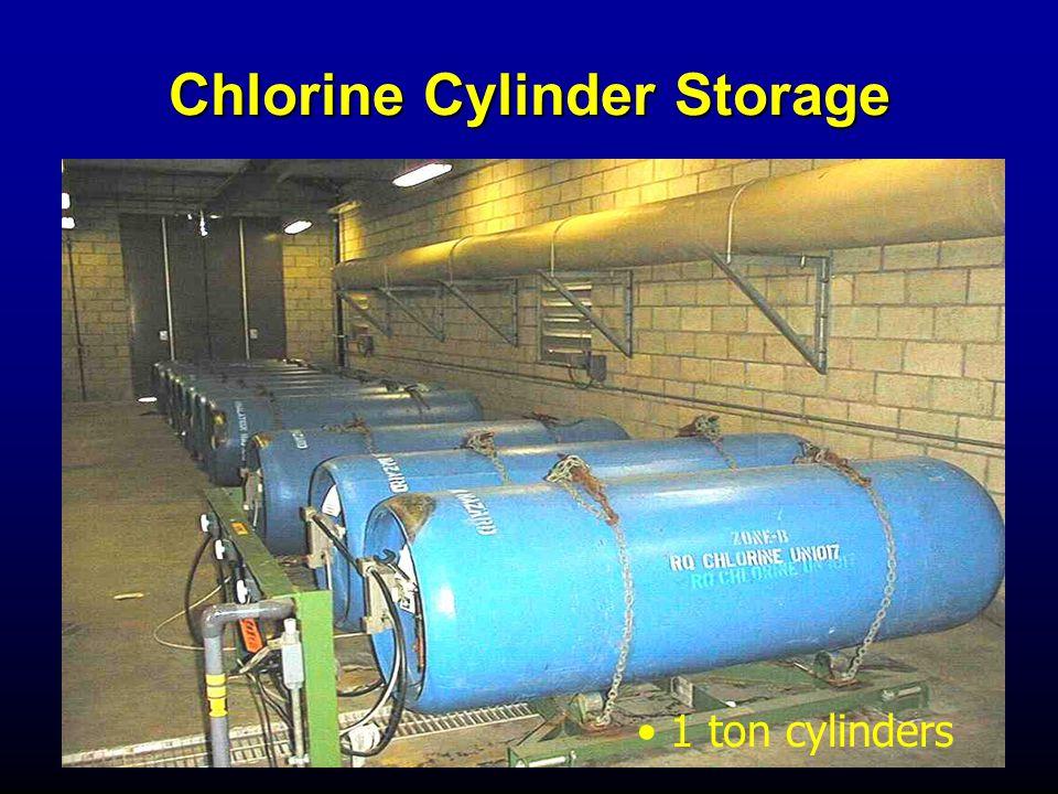Chlorine Cylinder Storage 1 ton cylinders