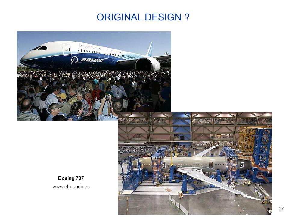 17 Boeing 787 www.elmundo.es ORIGINAL DESIGN