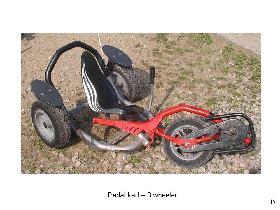 43 Pedal kart – 3 wheeler