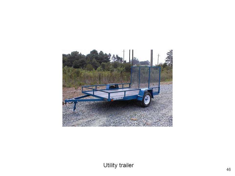46 Utility trailer