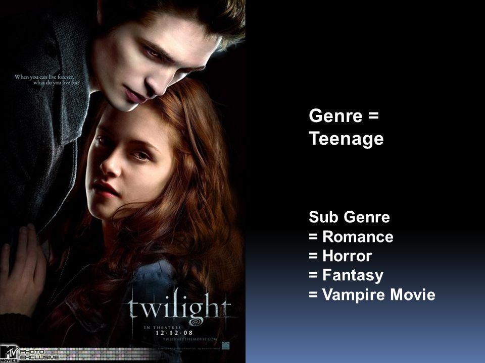 Genre = Teenage Sub Genre = Romance = Horror = Fantasy = Vampire Movie
