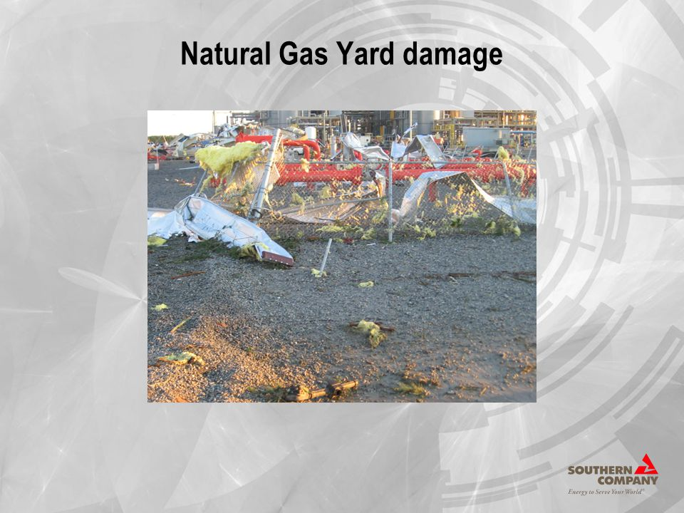 Natural Gas Yard damage