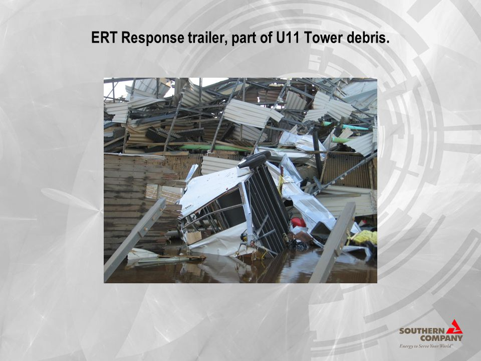 ERT Response trailer, part of U11 Tower debris.