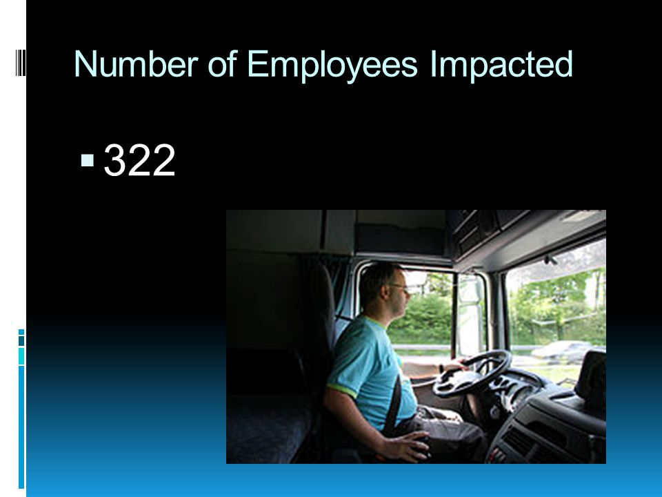 Number of Employees Impacted  322