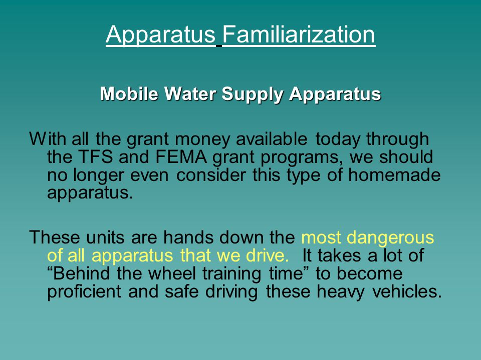 Apparatus Familiarization Aerial Apparatus Components The first system we are going to look at is the stabilizing system.