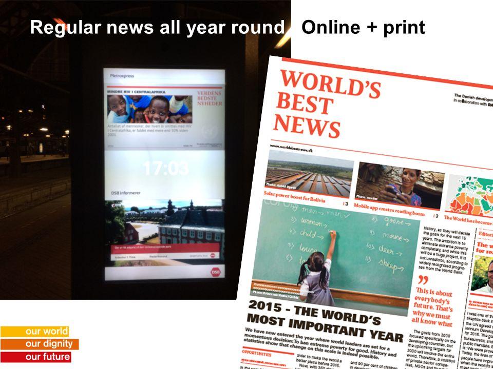Regular news all year round Online + print