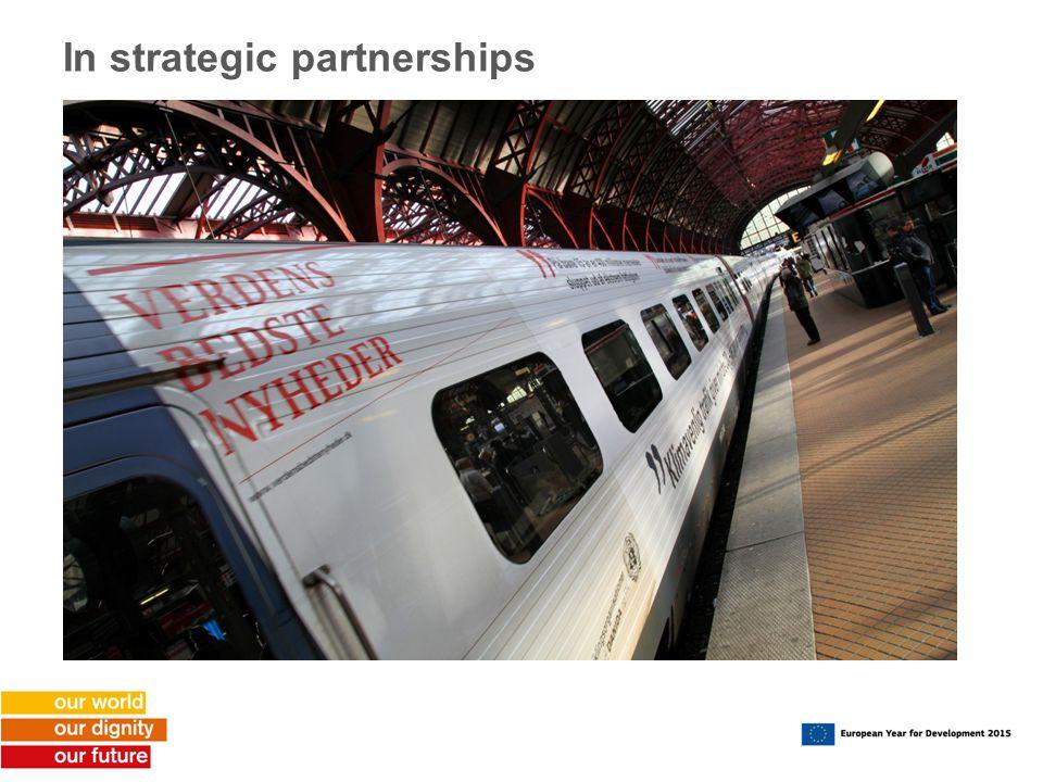 In strategic partnerships