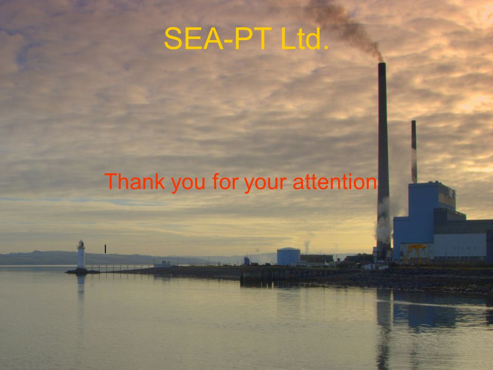 SEA-PT Ltd. Thank you for your attention I