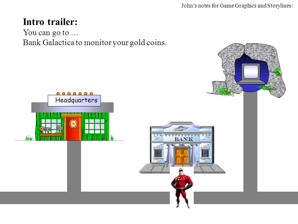 Intro trailer: You can go to … Bank Galactica to monitor your gold coins.