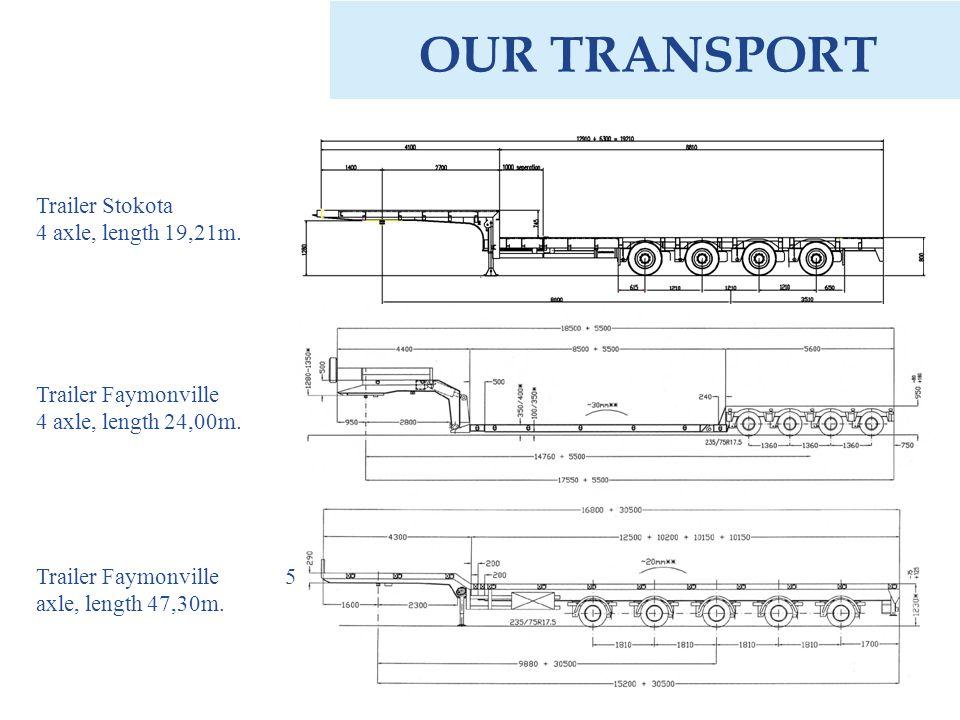OUR TRANSPORT Trailer Stokota 4 axle, length 19,21m.