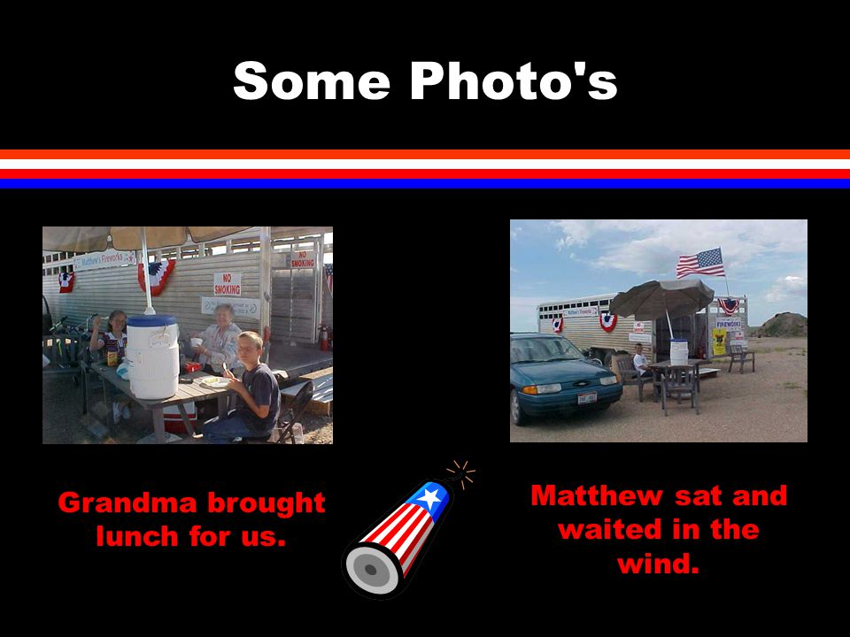 Some Photo's Grandma brought lunch for us. Matthew sat and waited in the wind.