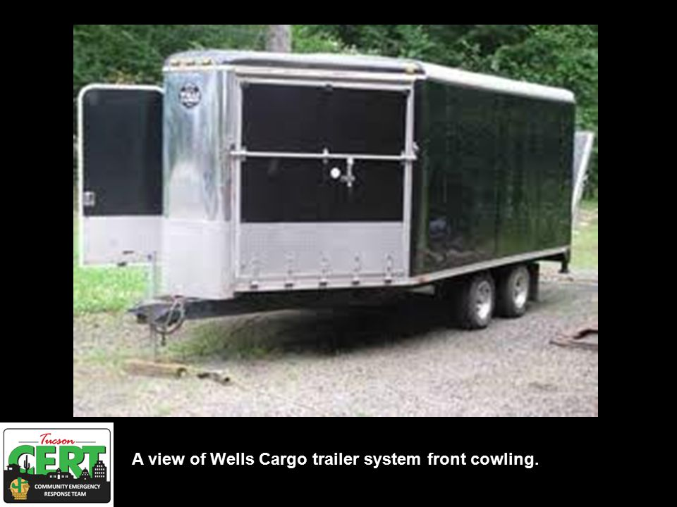 Cut away view of Wells Cargo trailer system.
