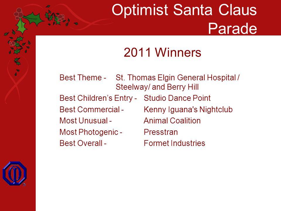 Optimist Santa Claus Parade 2011 Winners Best Theme - St.
