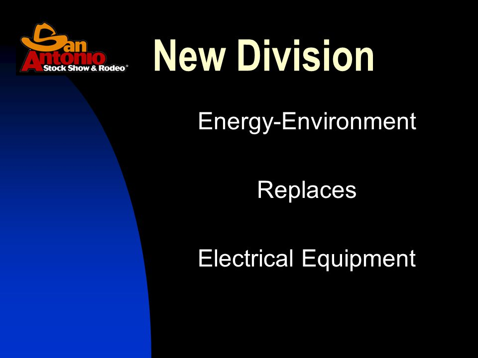 Energy-Environment Replaces Electrical Equipment New Division