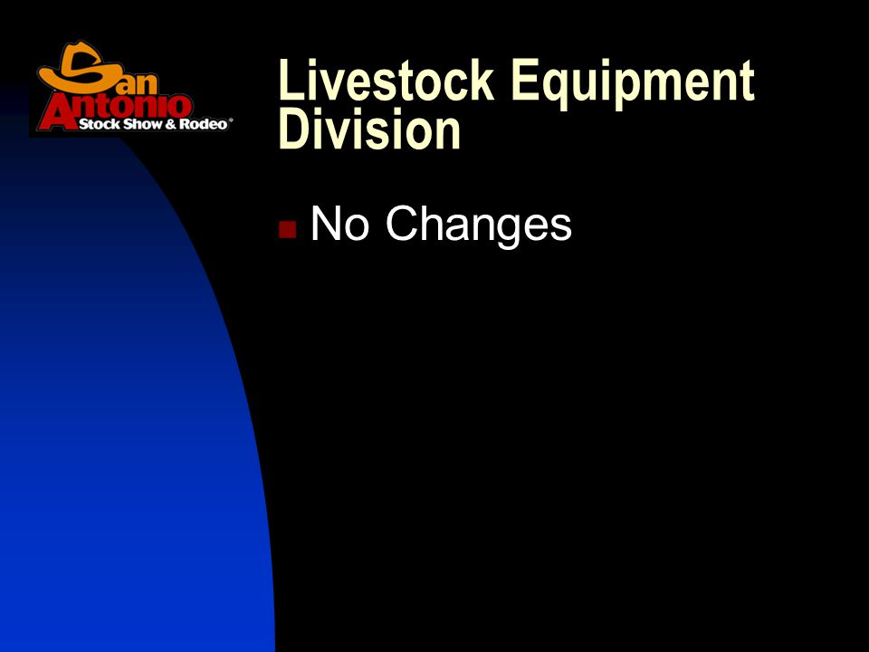 No Changes Livestock Equipment Division