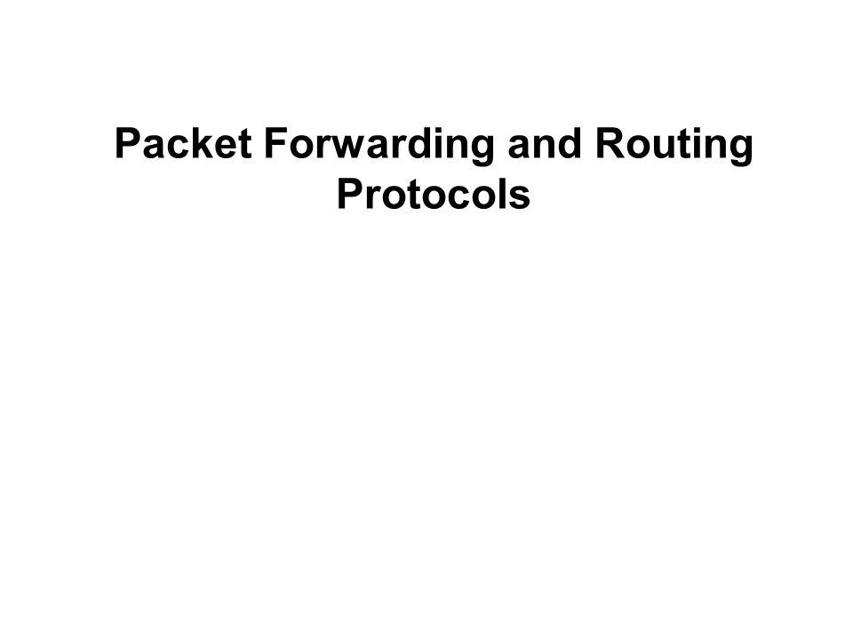 Packet Forwarding and Routing Protocols
