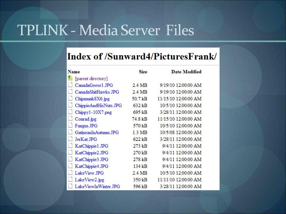 TPLINK - Media Server Files