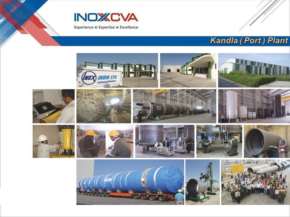 Kandla and Kalol Storage Tanks 750 No s/Year Transport Tanks and Semi trailer 200 No's/Year Portacryo 1000 No's/Year Liquid Cylinders 6000 No's/Year Cryoseal 20,000 No's/Year After expansion 300 No's/Year