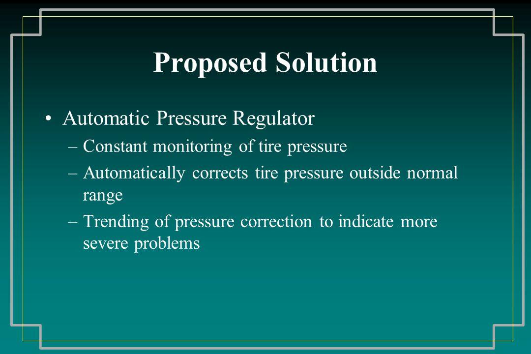System Proposal Driver Information Center Regulator Tire Coupling Compressor – Belt Driven from Engine Computerized Control System Press Gage