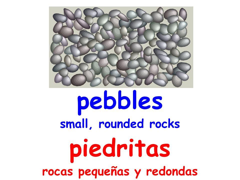 pebbles small, rounded rocks piedritas rocas pequeñas y redondas